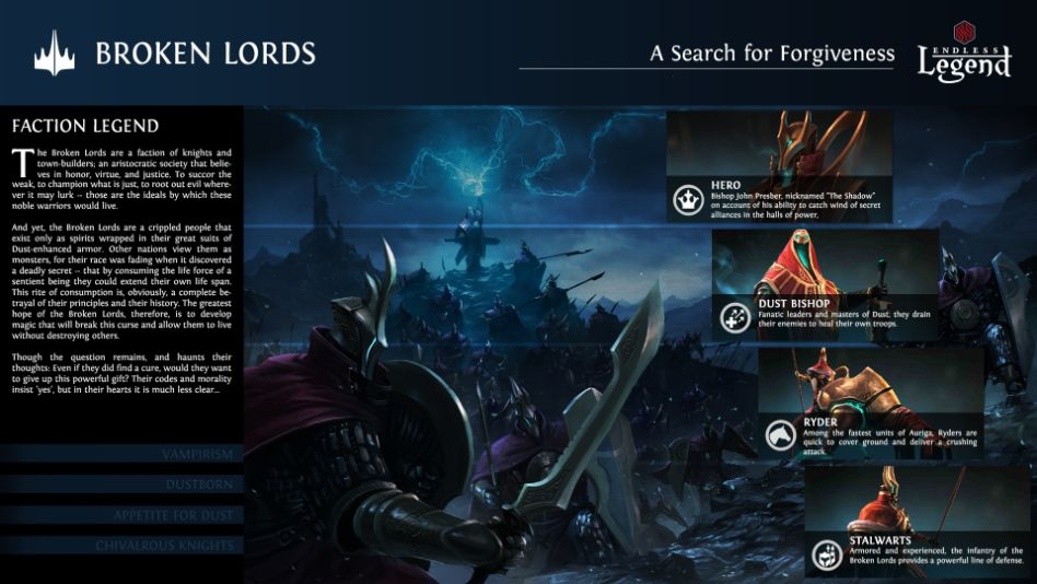 Endless Legend - Broken Lords Faction Card