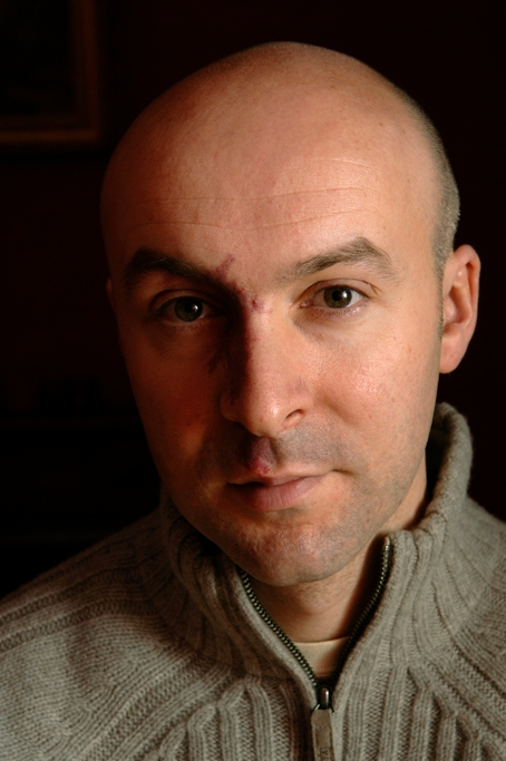 Christopher Brookmyre photographed by Charlie Hopkinson © 2006.
