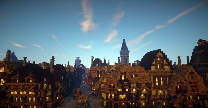 City of london Street Scene-To mark the 350th anniversary of the Great Fire of London in 1666, the Museum of London has created Great Fire 1666, an exciting virtual experience using Minecraft. Great Fire 1666  will be made up of three Minecraft maps which will offer a unique and immersive perspective on the Great Fire of London. These maps have been created in collaboration with Digital Producer Adam Clarke, mapbuilders Blockworks and game designer Dragnoz. This image may be used to promote or review the Museum of London's Great Fire 1666 project. All other uses must be lceared with the Museum of London.