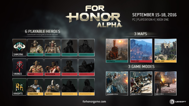 UBISOFT REVEALS DETAILS OF FOR HONOR CLOSED ALPHA   Page 165 of 0