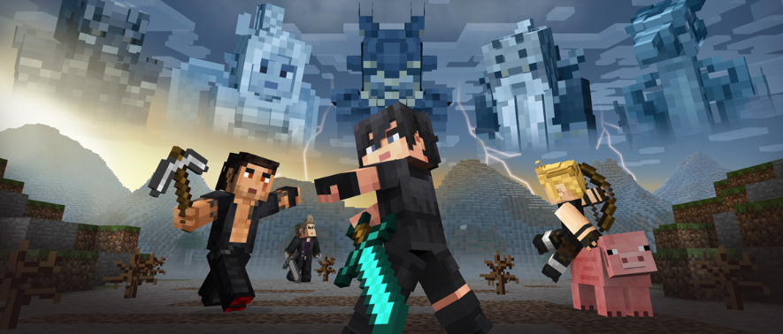 MINECRAFT FINAL FANTASY XV SKIN PACK AVAILABLE NOW