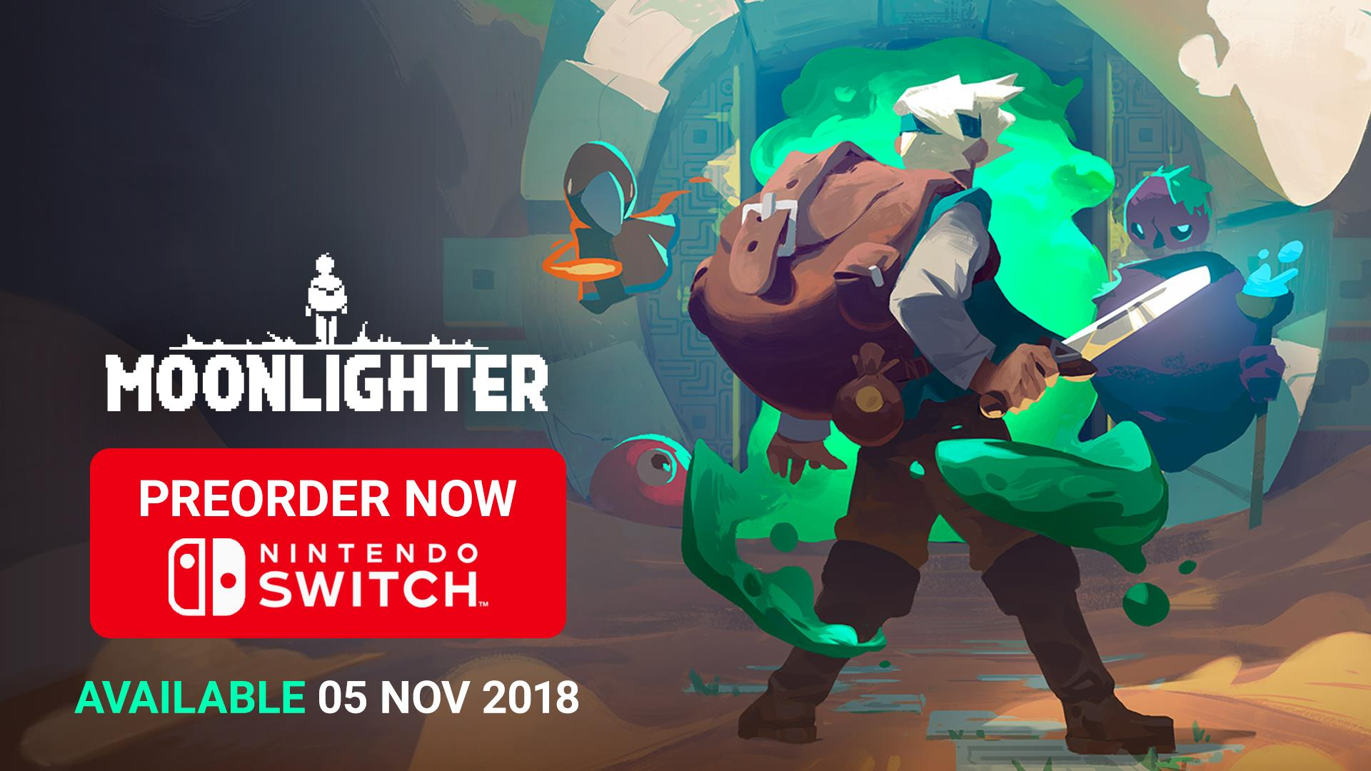 Moonlighter Lands on Nintendo Switch on Nov 5 — Pre-Orders are Live