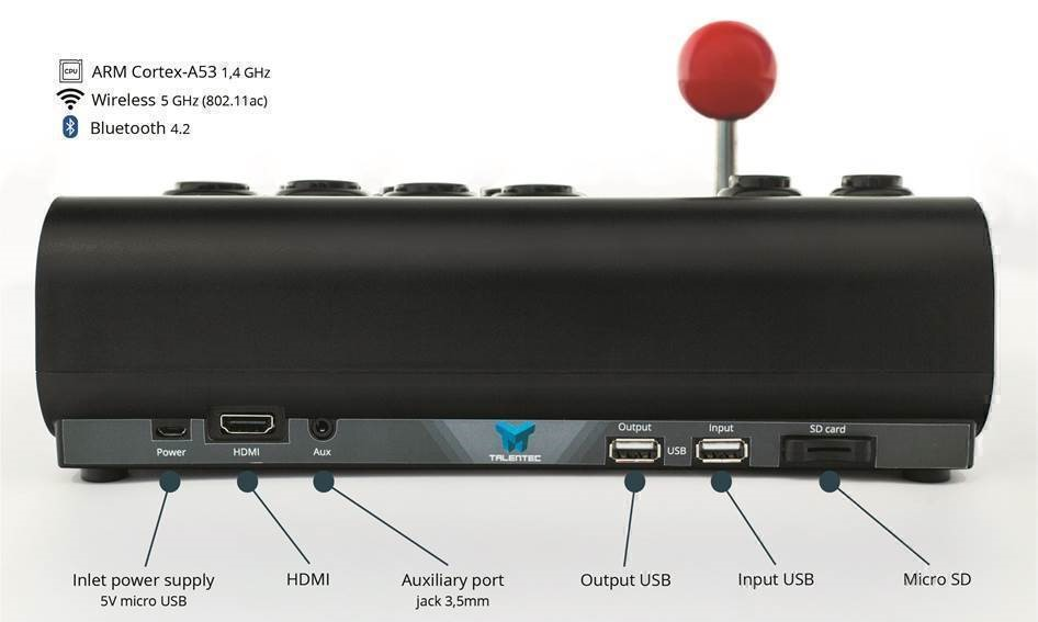RasPi Arcade Stick the smart arcade control by TALENTEC