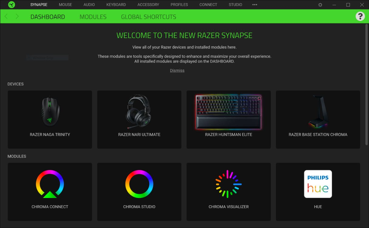 Razer Synapse 3 Enables more Privacy with Guest Login