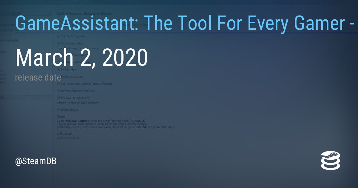 GameAssistant The Tool For Every Gamer