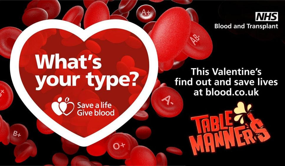 give blood table manners nhs