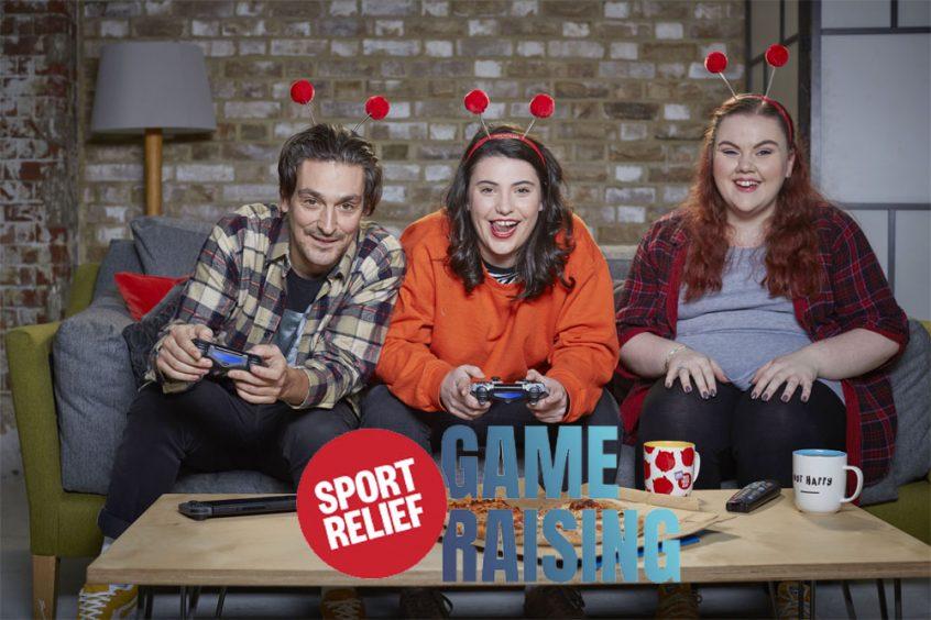 sport relief game raising