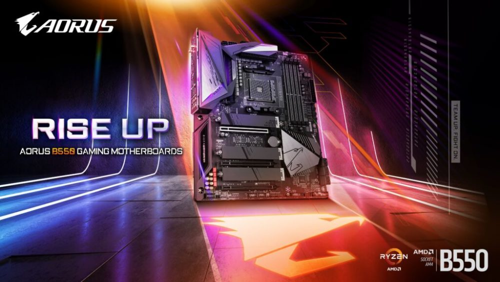 GIGABYTE Launches Latest AMD B550 AORUS Motherboards