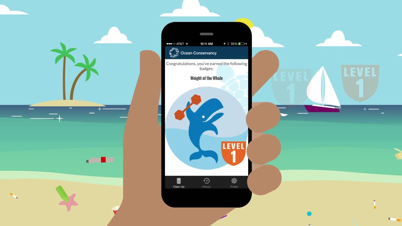Ocean cleanup app by Ocean Conservancy