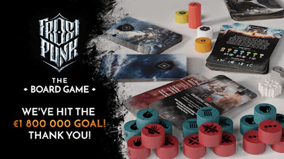Frostpunk The Board Game has reached its whopping €1.8mil stretch goal on Kickstarter!