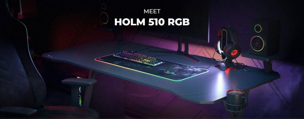 Holm 510 RGB Gaming Desk