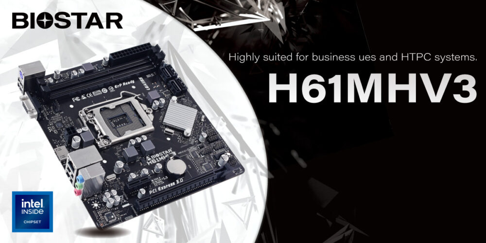 BIOSTAR announces The H61MHV3 Motherboard