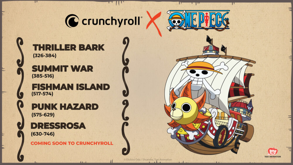 Crunchyroll to air new One Piece episodes