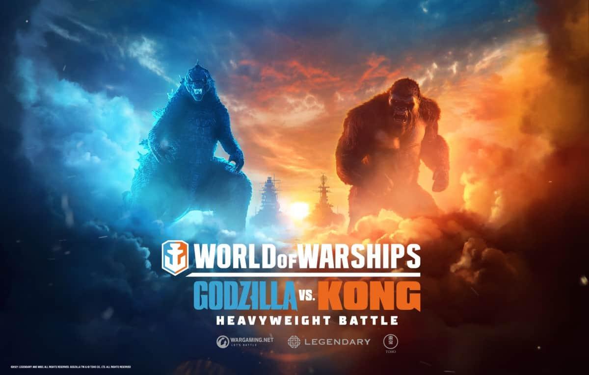 Godzilla vs. Kong Clash in World of Warships