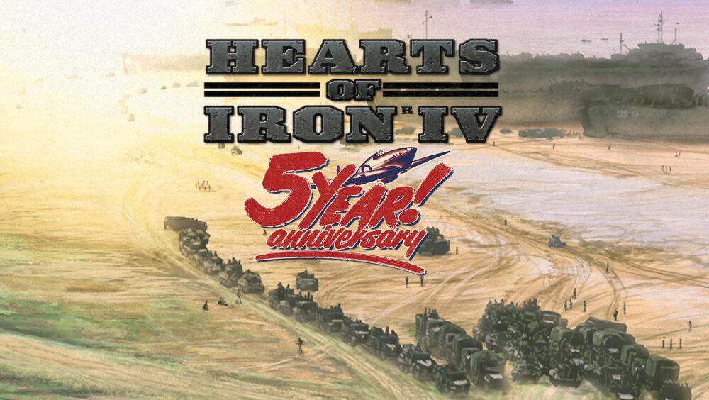 Hearts of Iron IV Celebrates Fifth Anniversary