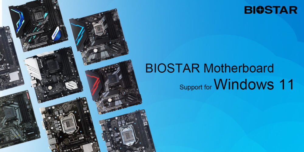 BIOSTAR Announces Motherboard Support for Windows 11