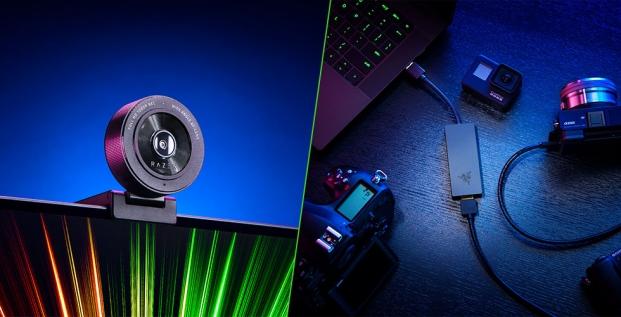 Razer Kiyo X Webcam Razer Ripsaw X Capture Card